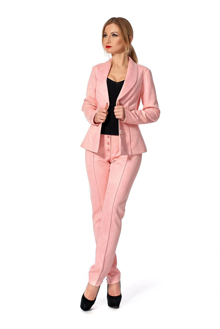 fc9e6f9734e Классический женский брючный костюм розовый  продажа