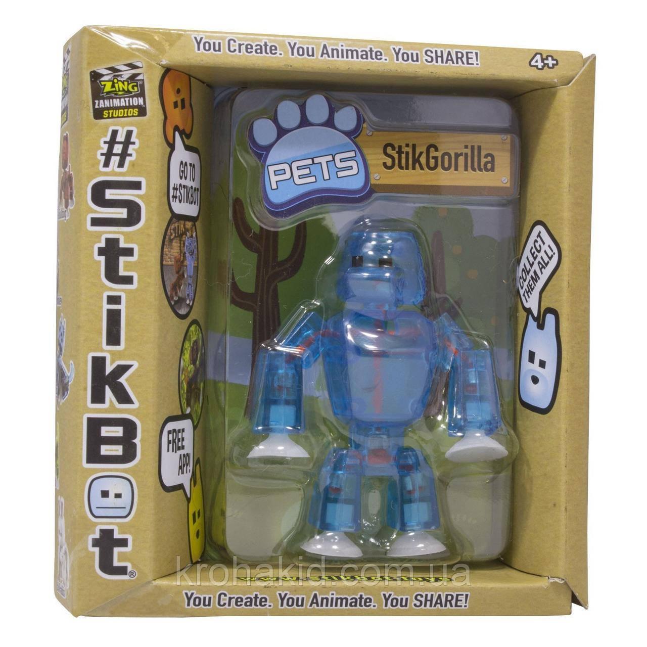 Фігурка Горила Stikgorilla для анімаційного творчості TST622SF Stikbot Safari Pets
