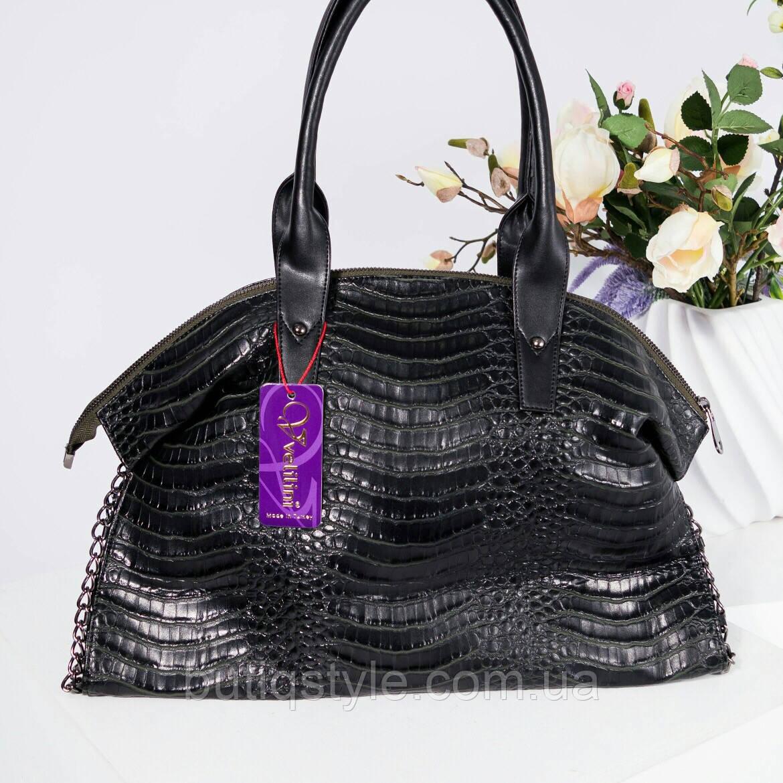 9a3aac177464 Стильная женская объемная черная сумка пресскожа копия Stellа Mcc@rtn