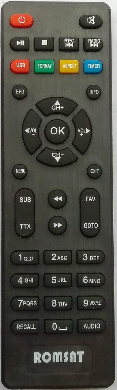 Пульт от тюнера эфирного цифрового телевидения Т2 Romsat T8000HD T8010HD