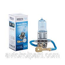 Галогенна авто лампа BREVIA H3 12V 55W PK22s Power White +60% 4300K CP