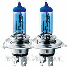 Галогенна авто лампа BREVIA H4 12V 60/55W P43t Power Blue S2 *2 шт