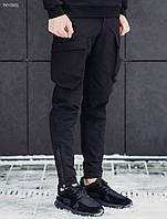 Мужские штаны Staff cargo tactical spandex black