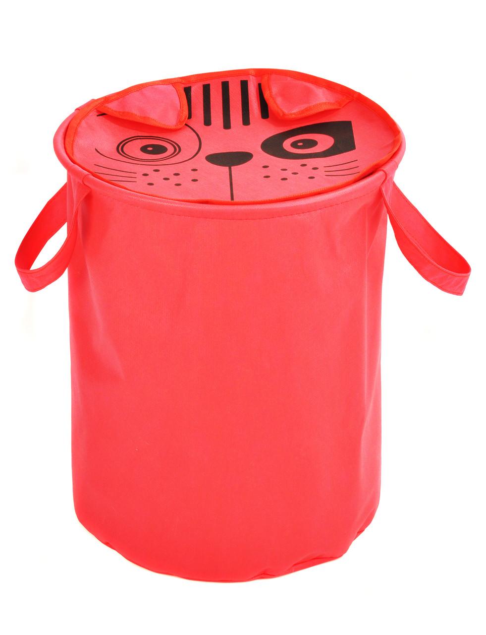 Мішок для зберігання іграшок, 40*50 см, Зоопарк,  Кіт  ( з кришкою )