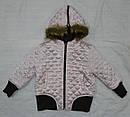 Демисезонная куртка-бомбер 2-сторонняя для девочки кор/роз (Quadrifoglio, Польша), фото 8