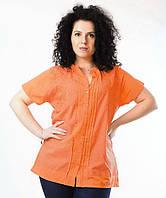 Уценка! Блузка оранжевая, хлопок, р-ры 52-54 размер, фото 1
