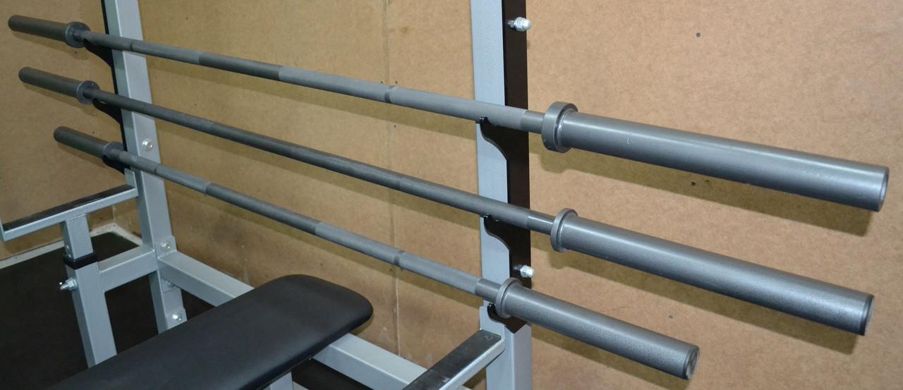 Гриф l-2.2м вес 17.5кг нагрузка до 150 кг d-для блинов 50мм для штанги прямой
