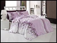 Комплект постельного белья First Choice бамбук Lara Lila евро (kod 3206)
