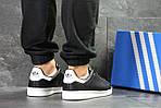 Мужские кроссовки Adidas Stan Smith (черно-белые), фото 4