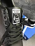 Мужские кроссовки Adidas Stan Smith (черно-белые), фото 5