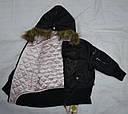 Демисезонная куртка-бомбер 2-сторонняя для девочки черн/роз (Quadrifoglio, Польша), фото 6