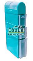 Комод-пенал пластиковый для ванной комнаты 115х46х16,5см (цвет - бирюзовый) Консенсус