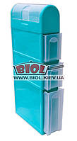 Комод пластиковый для ванной 4 ящика (3 выдвижных + 1 откидной) 115х46х16,5см бирюзовый Консенсус