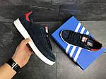 Мужские кроссовки Adidas Stan Smith (сине-белые), фото 2