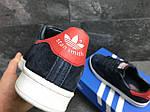 Мужские кроссовки Adidas Stan Smith (сине-белые), фото 7