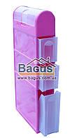 Комод-пенал пластиковый для ванной комнаты 115х46х16,5см (цвет - розовый) Консенсус