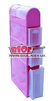 Комод пластиковый для ванной 4 ящика (3 выдвижных + 1 откидной) 115х46х16,5см розовый Консенсус