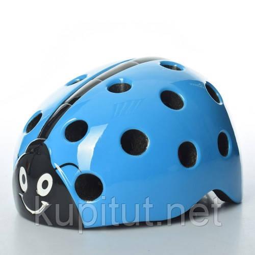 Шлем AS180065-2, Божья Коровка, детский, защитный, с регулировкой размера, синий