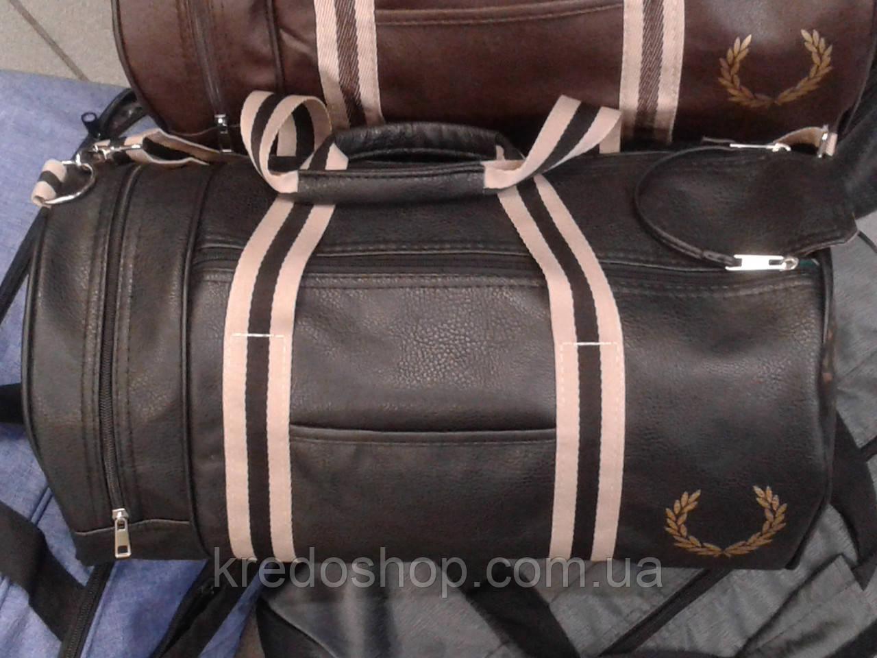 58c1bfe2 Сумка баул стильная спортивная черная FRED PERRY - Интернет-магазин сумок и  аксессуаров