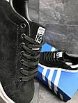 Мужские кроссовки Adidas Stan Smith (черно-белые), фото 3
