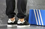 Мужские кроссовки Adidas Stan Smith (черно-белые), фото 7