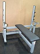 Лавка для жима горизонтальная со страховкой MALCHENKO профессиональная серия до 300 кг., фото 3