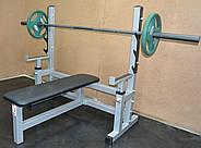 Лавка для жима горизонтальная со страховкой MALCHENKO профессиональная серия до 300 кг., фото 4