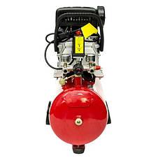 Компрессор 24 л, 1.5 кВт, 220 В, 8 атм, 206 л/мин. INTERTOOL PT-0009, фото 2