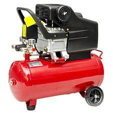 Компрессор 24 л, 1.5 кВт, 220 В, 8 атм, 206 л/мин. INTERTOOL PT-0009, фото 3