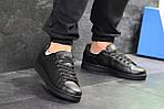 Мужские кроссовки Adidas Stan Smith (черные), фото 4