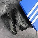 Мужские кроссовки Adidas Stan Smith (черные), фото 7