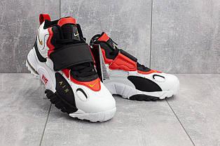 Мужские россовки Nike Air Max,белые с красным