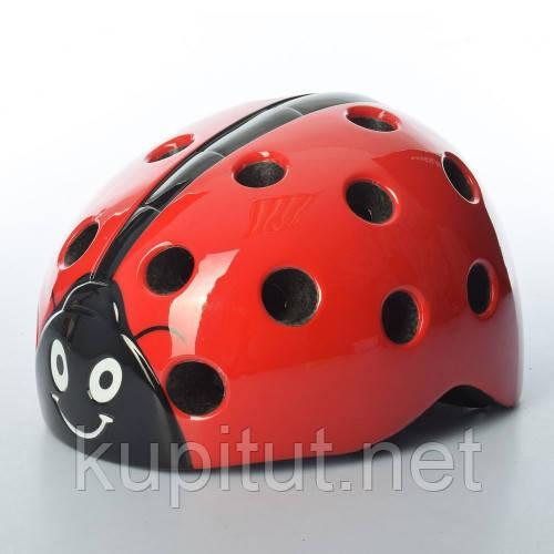 Шлем AS180065-5, Божья Коровка, детский, защитный, с регулировкой размера, красный