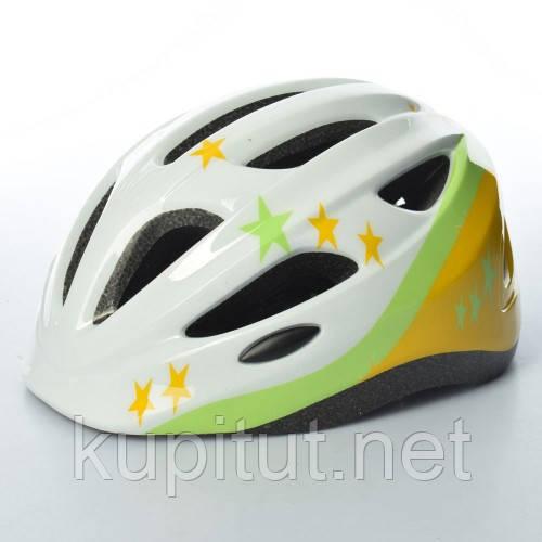 Шлем AS180066-8, Звезда, детский, защитный, универсальный размер, белый