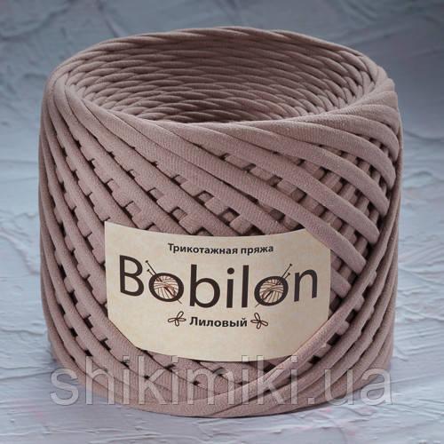 Трикотажная пряжа Bobilon (5-7 мм), цвет Лиловый