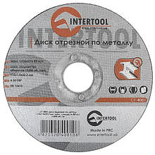 Круг відрізний по металу INTERTOOL CT-4001