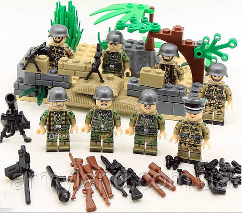 Военные фигурки,Германия,Вторая Мировая Война, аналог лего, BrickArms, фото 2