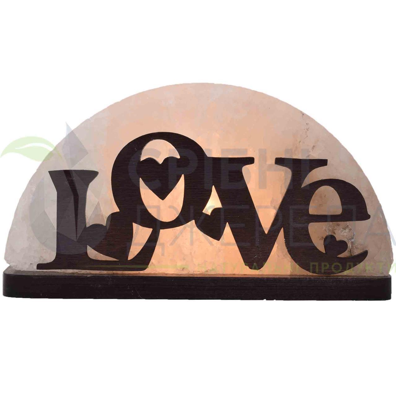 Соляна лампа Love, 1,5 кг