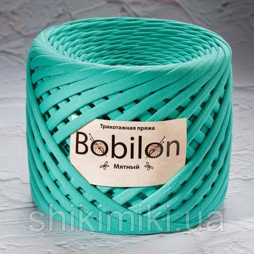 Трикотажная пряжа Bobilon (5-7 мм), цвет Мятный
