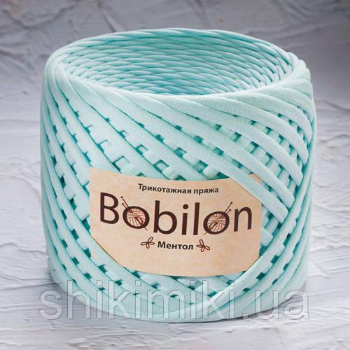 Трикотажная пряжа Bobilon (5-7 мм), цвет Ментол