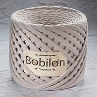 Трикотажная пряжа Bobilon (5-7 мм), цвет Пудровый