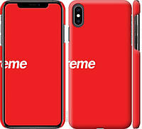 "Чехол на iPhone XS Max supreme ""3987c-1557-18924"""