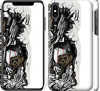 "Чехол на iPhone XS Max Тату Викинг ""4098c-1557-18924"""
