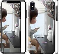 "Чехол на iPhone XS Max Милая девочка с зайчиком ""4039c-1557-18924"""