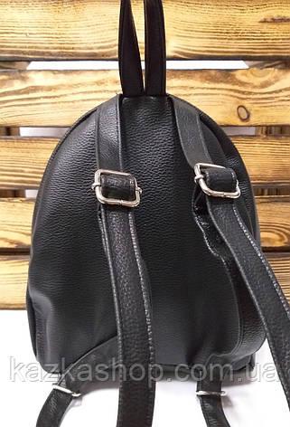 Рюкзак с черными паетками, на один отдел из искусственной кожи черного цвета, фото 2