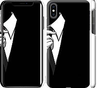 "Чехол на iPhone XS Max Галстук ""2975c-1557-18924"""