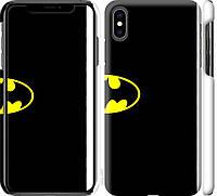 "Чехол на iPhone XS Max Бетмен логотип ""3201c-1557-18924"""