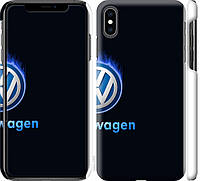 "Чехол на iPhone XS Max Volkswagen. Fire logo ""3141c-1557-18924"""