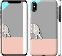 """Чехол на iPhone XS Max Узорчатый слон """"2833c-1557-18924"""""""