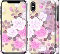"""Чехол на iPhone XS Max Японские цветы """"2240c-1557-18924"""""""